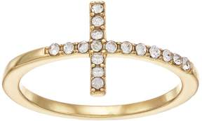 Lauren Conrad Simulated Crystal Sideways Cross Ring