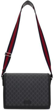 Gucci Black GG Supreme Military Messenger Bag