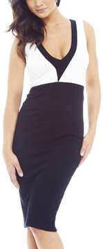 AX Paris Black & White Contrast Bodycon Dress - Women