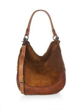 Frye Melissa Whipstitch Leather Hobo Handbag