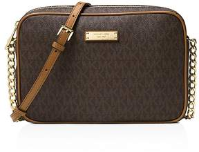 MICHAEL Michael Kors East/West Large Crossbody - BROWN/GOLD - STYLE
