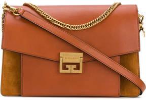 Givenchy Brown Foldover Chain Shoulder Bag