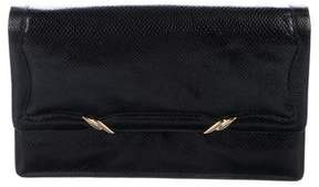 Judith Leiber Leather Flap Clutch