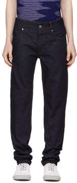 Missoni Blue Fitted Denim Trousers