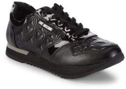 Love Moschino Quilted Low-Top Sneakers