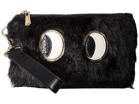 Sam Edelman Rachael Wristlet w/ Eye Applique Wristlet Handbags