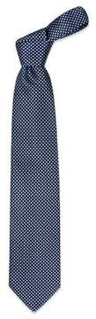 Forzieri Blue Checks Extra-Long Basketweave Silk Tie