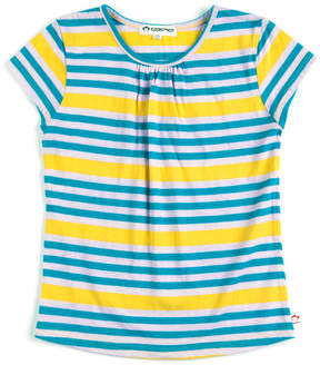 Appaman Girls' Grammercy Squash Stripe Cotton Tee
