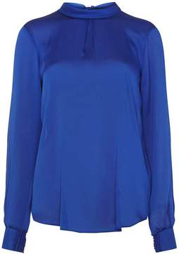 Dorothy Perkins **Tall Cobalt Tie Back Shirred Cuff Blouse