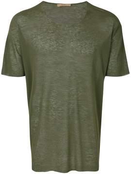 Nuur raw hem sheer T-shirt