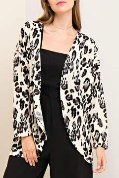 Entro Leopard Print Cardigan