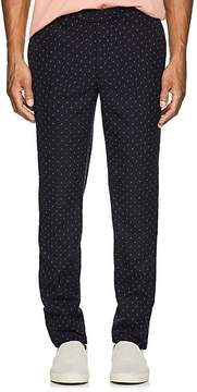 Officine Generale MEN'S PAUL EMBROIDERED WOOL TROUSERS