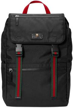 Gucci Technical canvas backpack - BLACK - STYLE