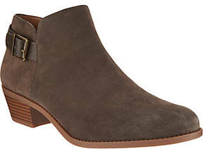 Vionic Suede Ankle Boots with Buckle - Millie