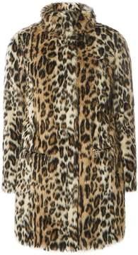Dorothy Perkins Leopard Print Faux Fur Coat