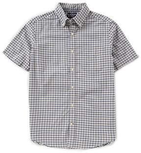 Daniel Cremieux Slim-Fit Check Oxford Short-Sleeve Woven Shirt