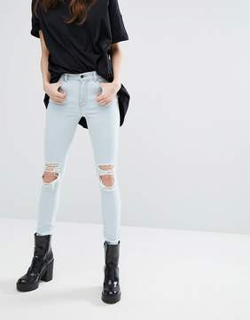 Dr. Denim Lexy Mid Rise Jeans with Ripped Knee