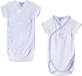Absorba Blue and White 2 Pack of Short Sleeve Bodies