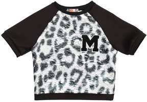 MSGM Neoprene And Brocade Sweatshirt