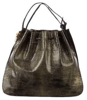 Nancy Gonzalez Mini Lizard Handle Bag