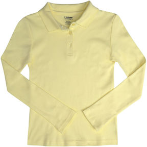 JCPenney French Toast Long-Sleeve Fitted Polo Shirt - Girls 7-20 and Plus