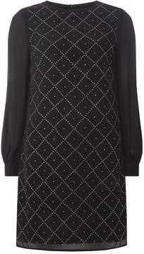 Dorothy Perkins Black Diamante Detail Shift Dress