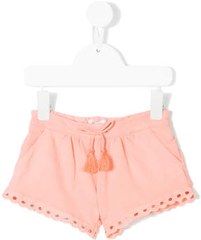 Chloé Kids scallop trim casual shorts