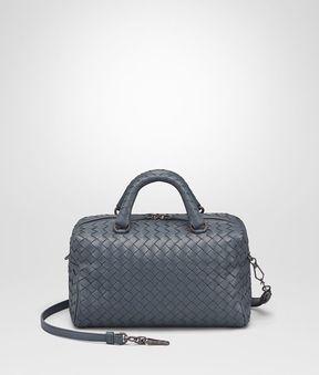 Bottega Veneta Mini Top Handle Bag In Krim Intrecciato Nappa Leather
