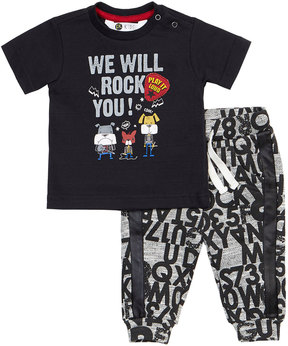 Petit Lem We Will Rock You Two-Piece Set, Black, Size 3-24 Months