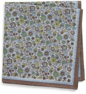 Eton Men's Floral Pocket Square