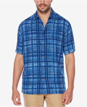 Cubavera Men's Distressed Plaid Shirt