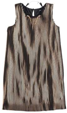 My Michelle Girls 7-16 Metallic Pleated Dress with Choker Necklace