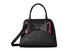 Betsey Johnson Studded Bow Dome Satchel Satchel Handbags