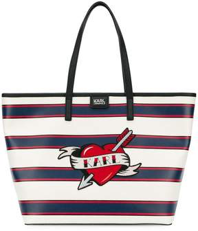 Karl Lagerfeld Captain Heart shopper tote