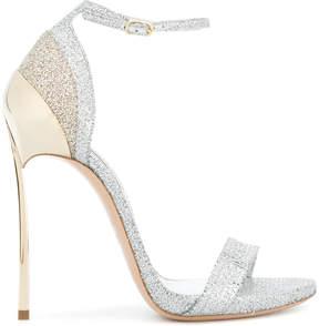 Casadei Techno Blade glittered sandals