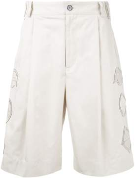 General Idea embroidered detail shorts