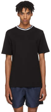 MSGM Black Logo Collar T-Shirt