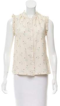 Band Of Outsiders Floral Sleeveless Top