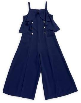Iris & Ivy Girl's Buttoned Wide-Leg Jumpsuit
