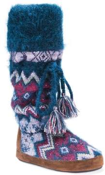 Muk Luks Women's Angie Fairisle Boot Slippers