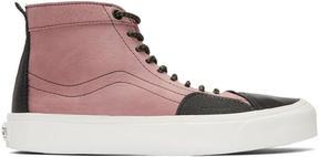Vans Pink and Black Taka Hayashi Edition TH SK8 Skool LX High-Top Sneakers