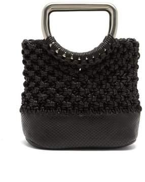 Proenza Schouler Market Macrame Mini Bag - Womens - Black
