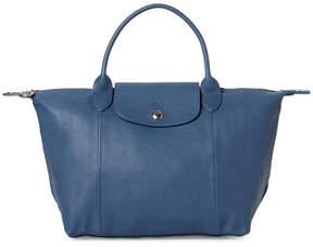 Longchamp Light Blue Le Pliage Cuir Small Satchel - LIGHT BLUE - STYLE