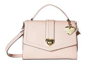 Betsey Johnson Heart Lock Satchel Satchel Handbags