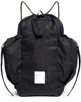 Satisfy Camouflage print drawstring backpack