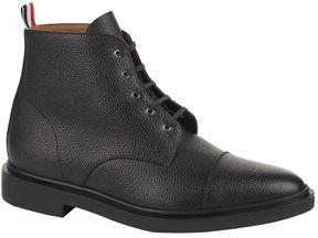 Thom Browne Cap-Toe Pebble-Grain Leather Boots