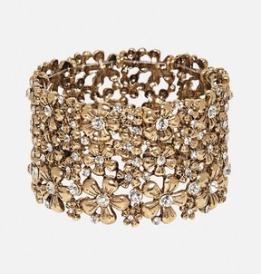 Avenue Wide Floral Stretch Bracelet