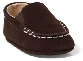 Ralph Lauren Vincenzo Suede Loafer Chocolate Suede 0 (0-6 Wks)