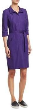 Akris Punto Cotton Drawstring Shirt Dress
