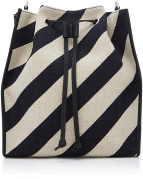 J.W.Anderson Striped Linen-Canvas Bucket Bag